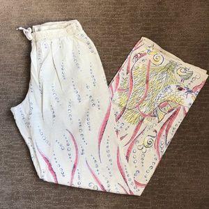 Eloise coy fish pajama pants